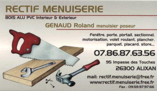 Carte De Visite Rectif Menuiserie